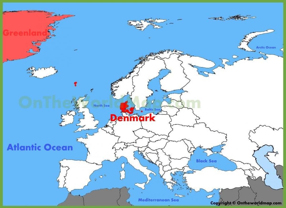 Mapa Danii I Europie Kopenhaga Dania Mapa Europy Europa